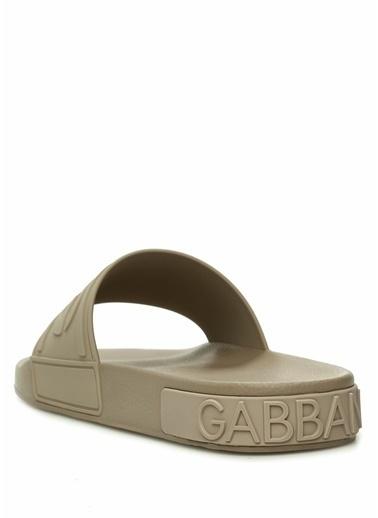 Dolce&Gabbana Dolce&Gabbana  Logolu Erkek Plaj Terliği 101479244 Gri
